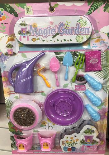 blister de jardinería sembrar pumy july toys