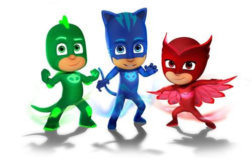 blister héroes pijamas pj masks 6 figuras + 3 armas almagro