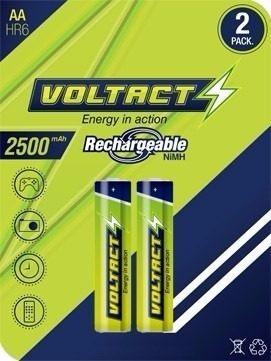 blister par bateria recargable aa 2500mah nimh marca voltact