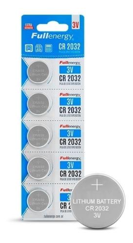 blister x 5 pila cr2032 fullenergy boton cr 2032 pack x 5