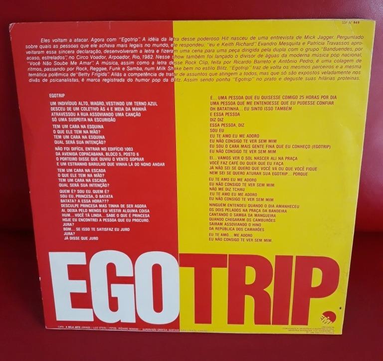 Blitz 3 Egotrip 1984 Lp Em Estado De Novo - R$ 150,00 em Mercado Livre