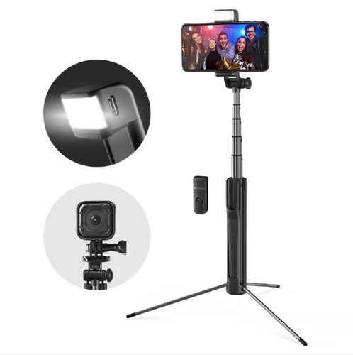 blitzwolf bw-bs8 pau selfie tripé 3 em 1 com flash bluetooth