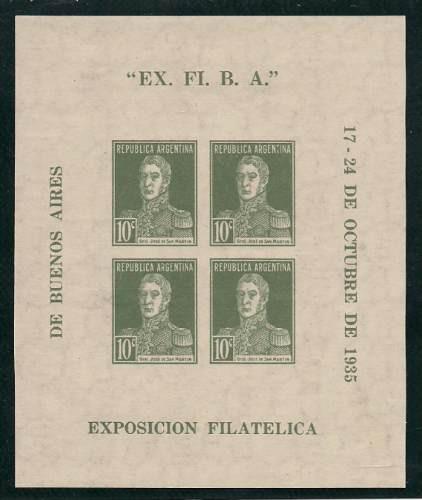 block 1 de argentina año 1935 mint oferta