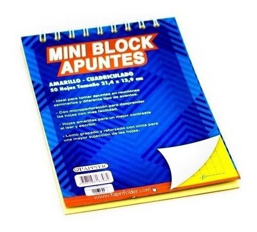 block argollado amarillo  carta cuadriculado pappyer