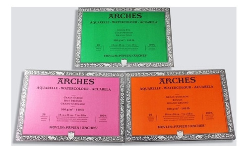 block canson arches satinado 23x31 300g 100%alg.barrio norte
