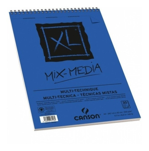 block canson xl mix media 300grs  a3 /30 hojas microcentro