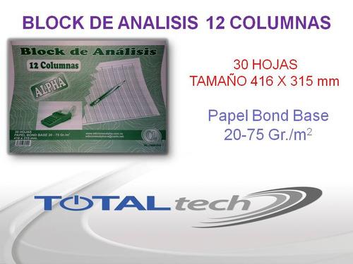 block de analisis 12 columnas