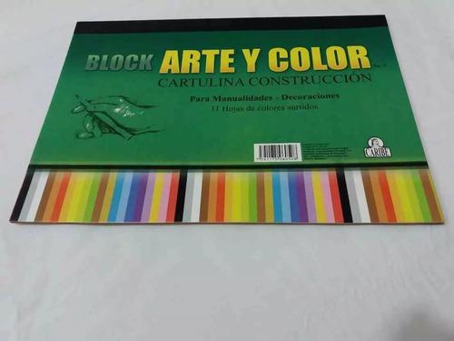 block de cartulina de construcción marca caribe 11 colores