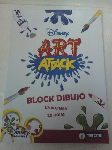 block de dibujo 1/8 watman paq. 10 unidades