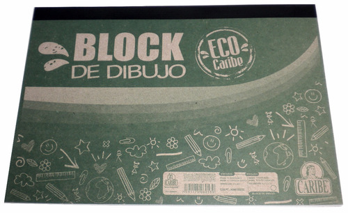 block de dibujo caribe 6120d, manualidades, niños