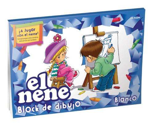 block de dibujo el nene nº5 blanco 24 hojas. ideal niños