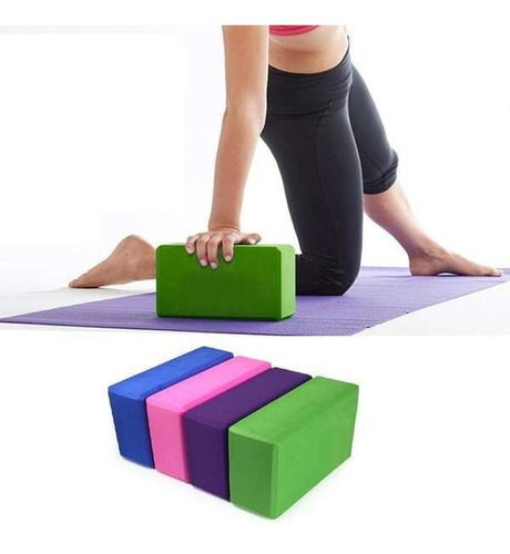block de yoga paquete de 2 pzas