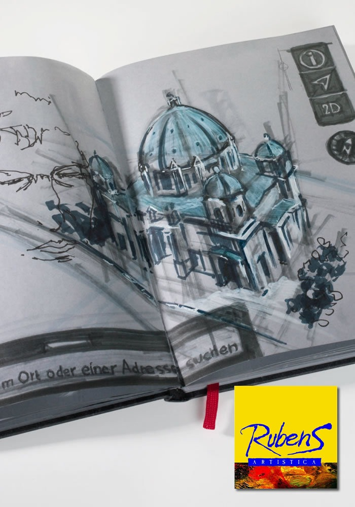 "Hahnemühle Skizzenbuch /""The Grey Book/"" A5 120g"