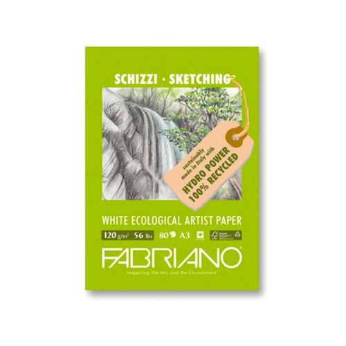 block schizzi ecological fabriano120 g a3c/espiral 40 hjs eg