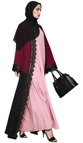 block vestido islmico de manga larga borgo  borgo?a m