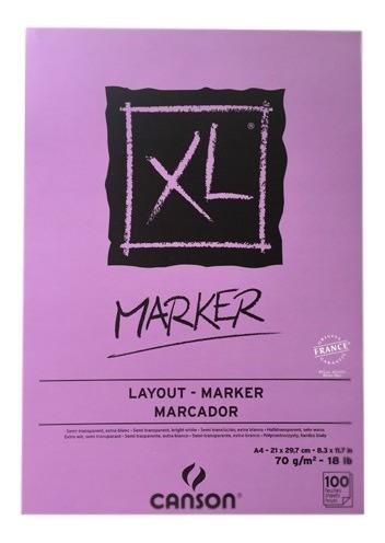 block xl marker canson 21 x 29.7 cm 70 g/m2 c/envío gratis