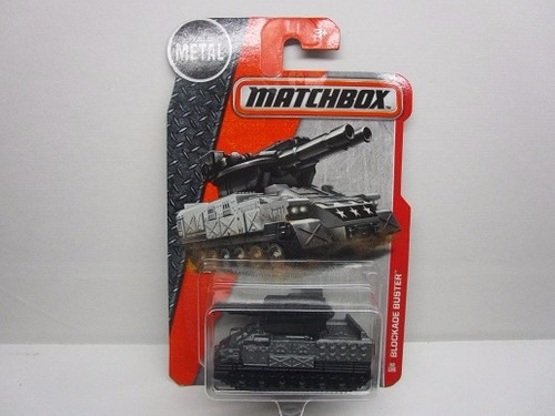 blockade buster tanque guerra coleccion matchbox escala 7cm