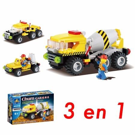blocks construcción camión hormigonero 3 modelos en 1