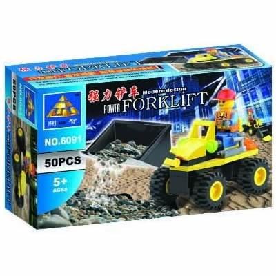 blocks construcción cargador frontal 3 en 1 | 50 piezas