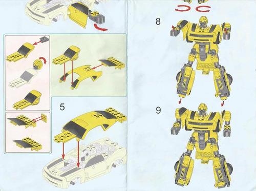blocks construcción pack 2 autos   bumblebee king y meteoro