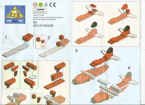blocks construcción pack aviones y helicóptero | 290 piezas