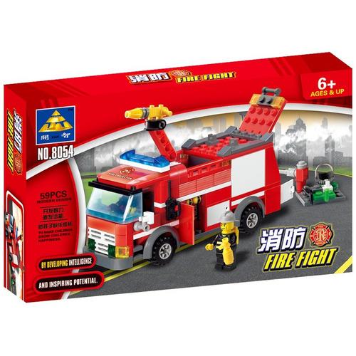 blocks construcción pack bomberos   5 juguetes   621 piezas