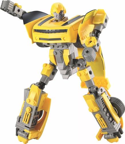 blocks de construcción auto robot juguete didáctico