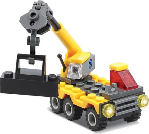 blocks de construcción camión pluma