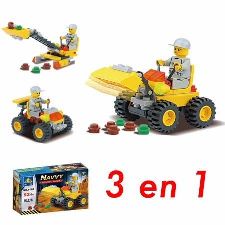 blocks de construcción cargador - 3 modelos en 1 | 52 piezas
