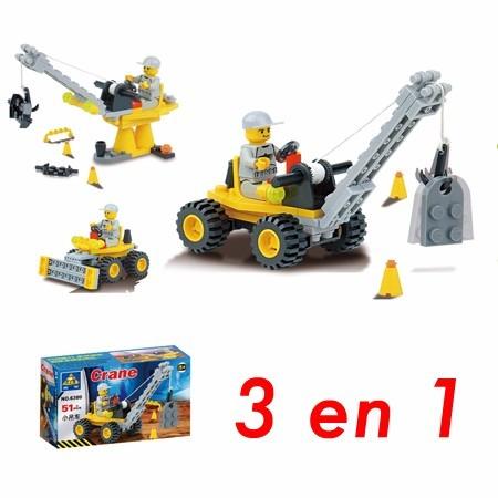 blocks de construcción grúa - 3 modelos en 1