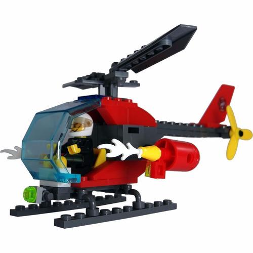 blocks de construcción  helicóptero bomberos envío gratis