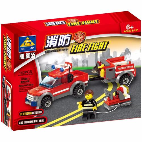 blocks de construcción pack bomberos | 438 piezas