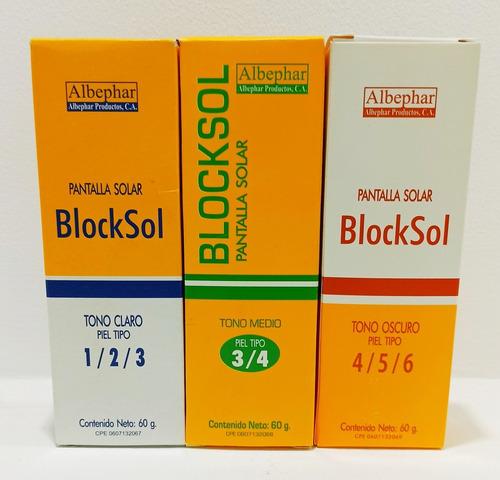 blocksol pantalla solar tono claro / medio / oscuro