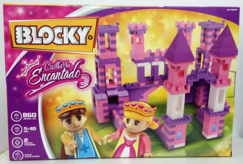 blocky castillo encantado con 860 piezas nuevo