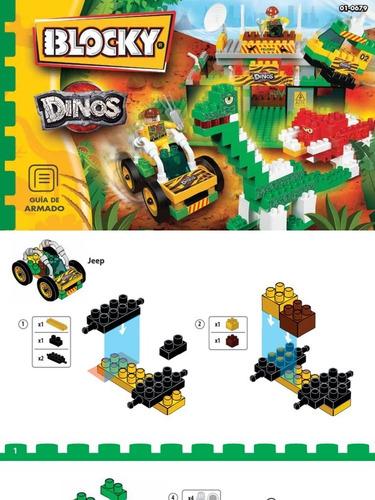blocky dinos dinosaurio x 260 piezas el mas grande en cadia