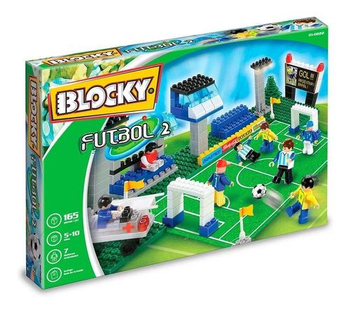 blocky futbol 2 185 pzas 6 muñecos articulados