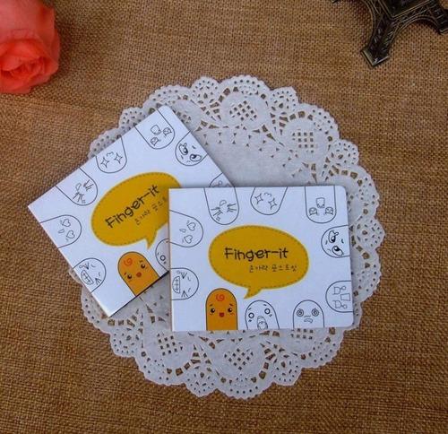 bloco adesivo carinhas dedos expressão 200 folhas adesivas