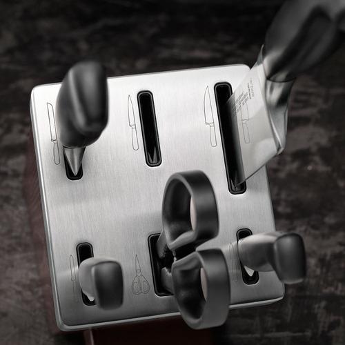 bloco afiador de facas four star 7 peças zwilling j.a. henck