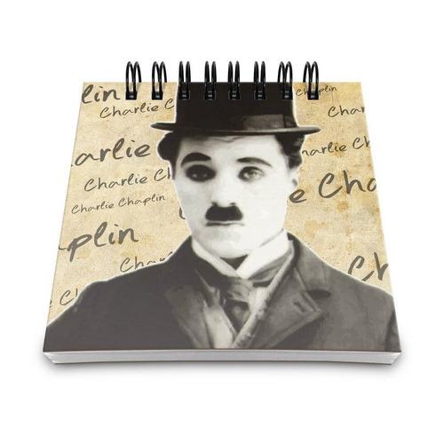 bloco anotações charles chaplin