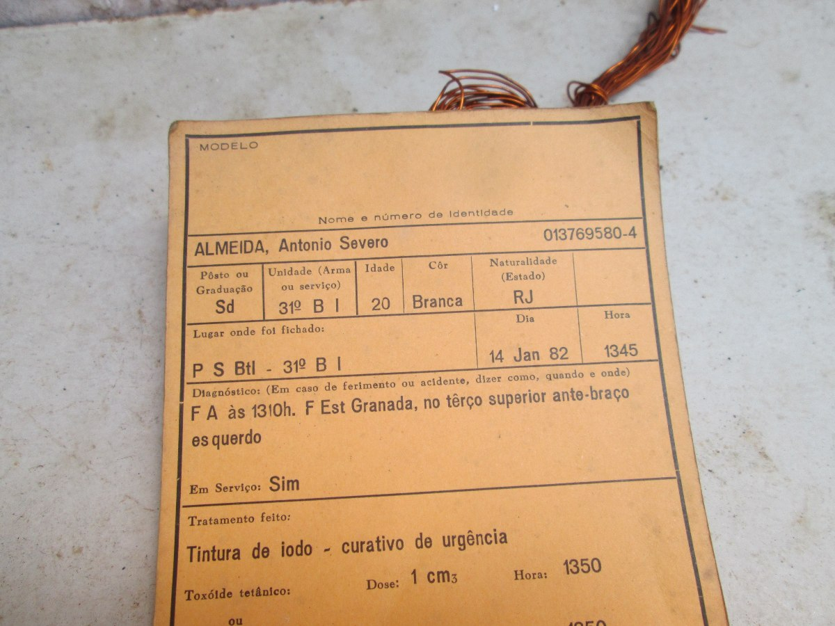 Bloco De Ficha Médica Exército Brasileiro Militaria
