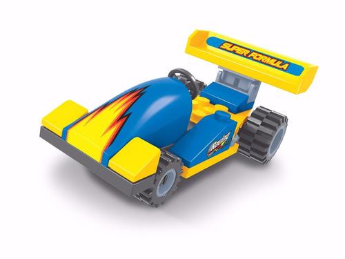 bloco de montar click it lego carro de corrida. 30 peças.