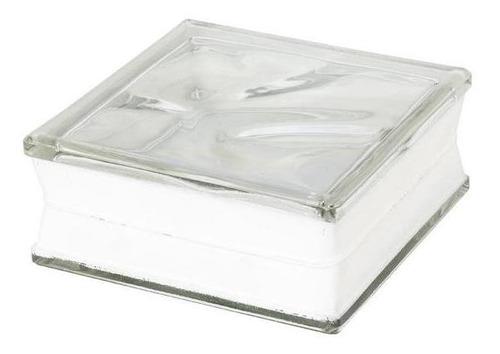 bloco de vidro 190x190x90mm wave incolor sindico