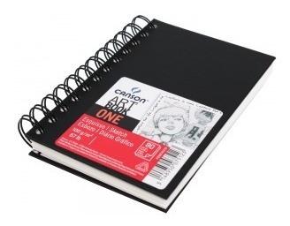 bloco livro sketchbook espiral canson one a6 10x15cm