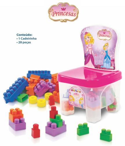 bloco montar brinquedo educativo menino(a) 2 anos kidverte