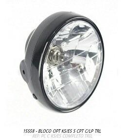 bloco óptico farol ks-es completo com lampada
