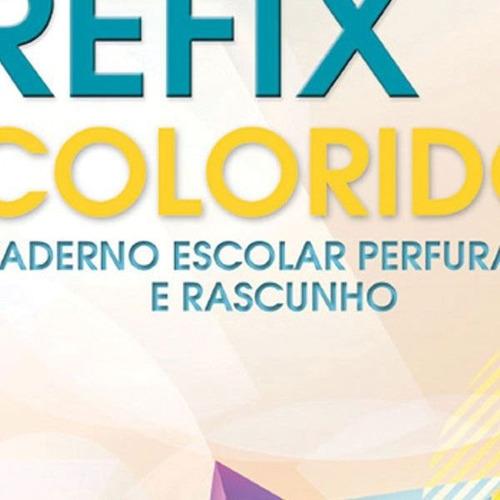 bloco p/ fichario universit. crefix color 96f 203x280mm c/10