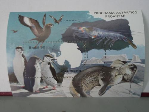 bloco - selo - programa antártico proantar 1990