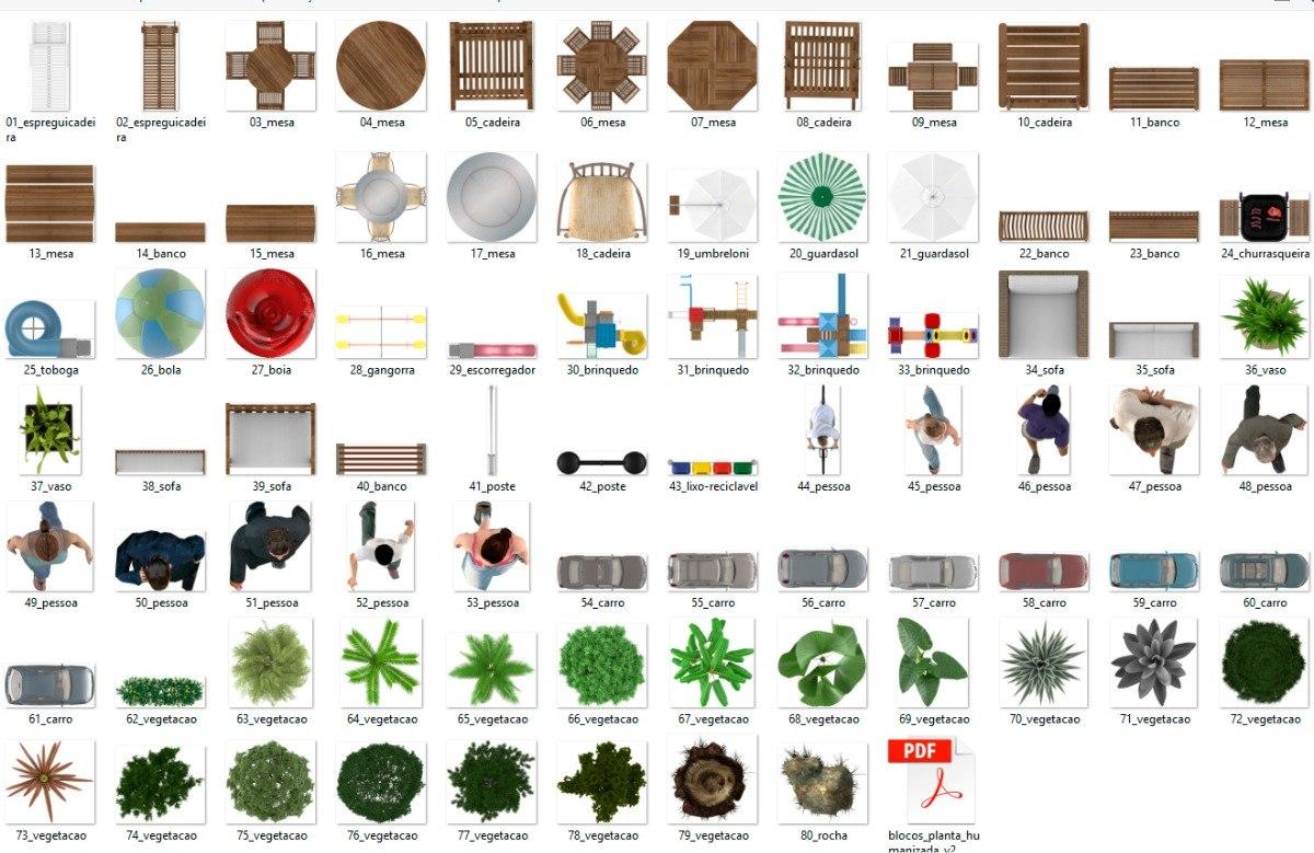 Blocos Arquitetura Para Planta Baixa Humanizada R 14