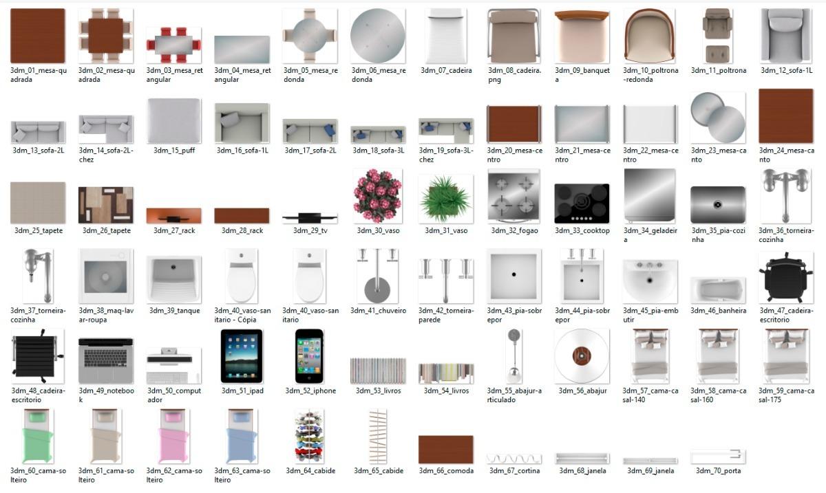 Blocos Arquitetura Para Planta Baixa Mobiliada R 14 99