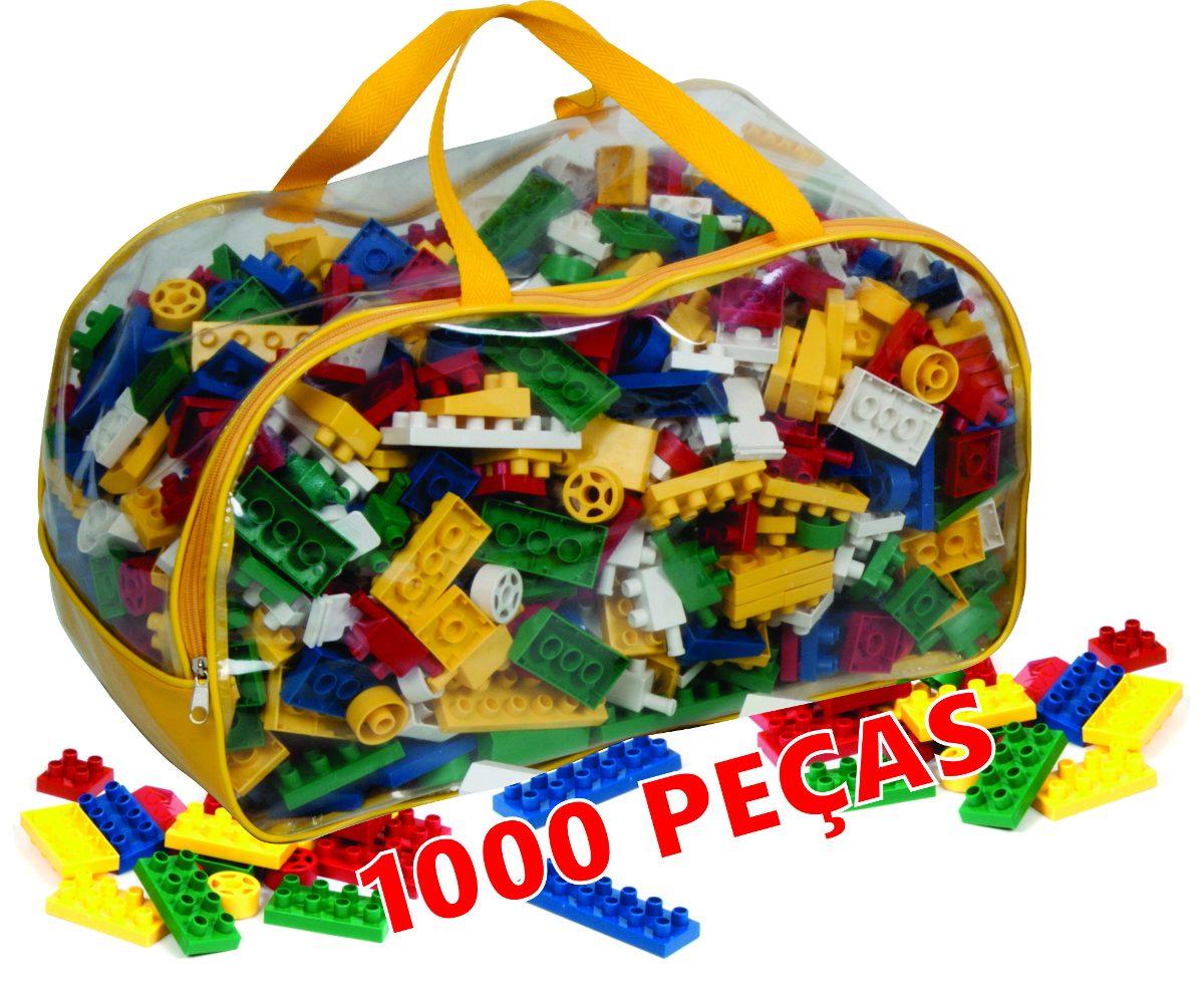 Blocos De Montar 1000 Peças Brinquedo Educativo Lego R 110